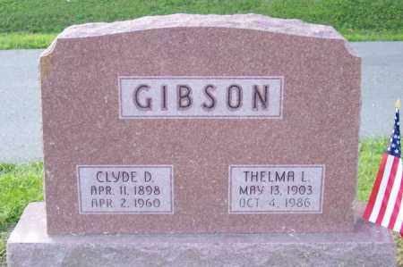 GIBSON, CLYDE D. - Muskingum County, Ohio | CLYDE D. GIBSON - Ohio Gravestone Photos