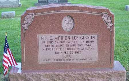 GIBSON, MARION LEE - Muskingum County, Ohio | MARION LEE GIBSON - Ohio Gravestone Photos