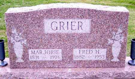 GRIER, FRED H. - Muskingum County, Ohio | FRED H. GRIER - Ohio Gravestone Photos