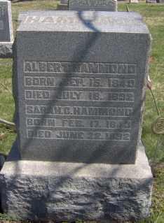 HAMMOND, ALBERT - Muskingum County, Ohio | ALBERT HAMMOND - Ohio Gravestone Photos