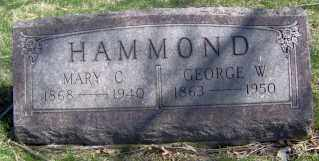 HAMMOND, GEORGE W. - Muskingum County, Ohio | GEORGE W. HAMMOND - Ohio Gravestone Photos