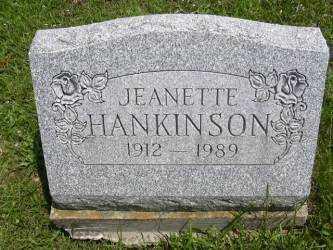 HANKINSON, JEANETTE - Muskingum County, Ohio | JEANETTE HANKINSON - Ohio Gravestone Photos