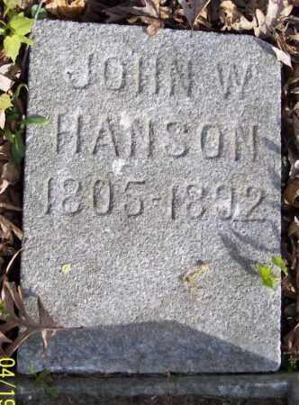 HANSON, JOHN W. - Muskingum County, Ohio | JOHN W. HANSON - Ohio Gravestone Photos