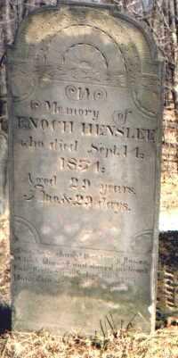 HENSLEE, ENOCH - Muskingum County, Ohio | ENOCH HENSLEE - Ohio Gravestone Photos