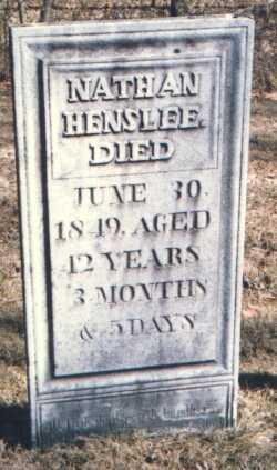 HENSLEE, NATHAN - Muskingum County, Ohio | NATHAN HENSLEE - Ohio Gravestone Photos