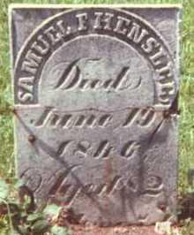 HENSLEE, SAMUEL F. - Muskingum County, Ohio | SAMUEL F. HENSLEE - Ohio Gravestone Photos