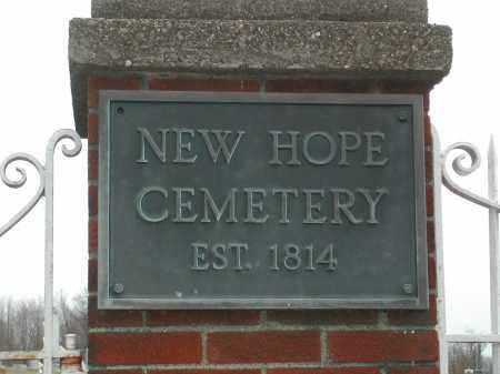 HEW HOPE, CEMETERY - Muskingum County, Ohio   CEMETERY HEW HOPE - Ohio Gravestone Photos