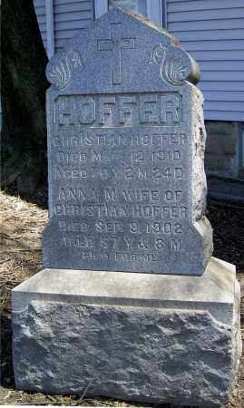 HOFFER, CHRISTIAN - Muskingum County, Ohio | CHRISTIAN HOFFER - Ohio Gravestone Photos