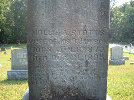 STOTTS JAMISON, MOLLIE A - Muskingum County, Ohio | MOLLIE A STOTTS JAMISON - Ohio Gravestone Photos