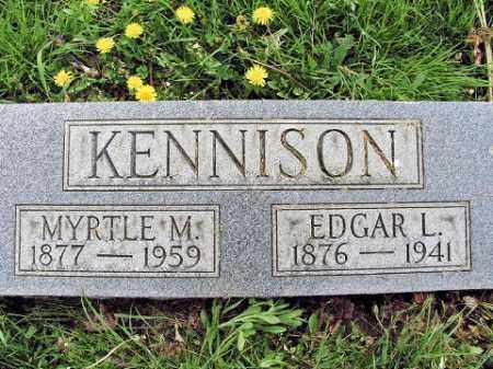 KENNISON, EDGAR L - Muskingum County, Ohio | EDGAR L KENNISON - Ohio Gravestone Photos