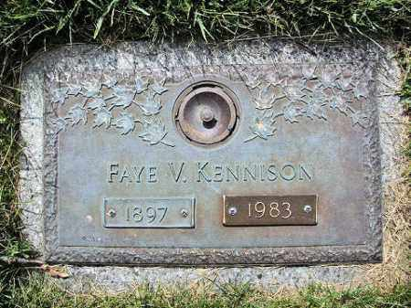 KENNISON, FAYE V. - Muskingum County, Ohio | FAYE V. KENNISON - Ohio Gravestone Photos