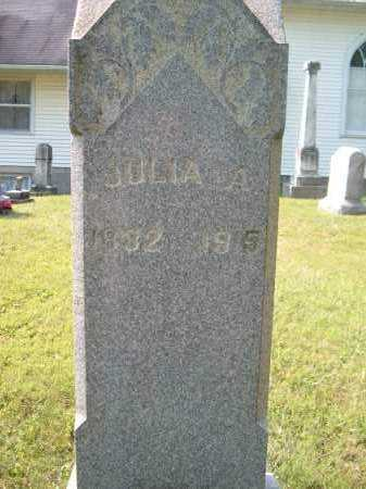 KING ?, JULIA A - Muskingum County, Ohio | JULIA A KING ? - Ohio Gravestone Photos