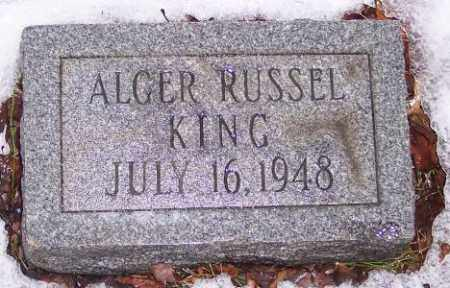 KING, ALGER RUSSEL - Muskingum County, Ohio | ALGER RUSSEL KING - Ohio Gravestone Photos