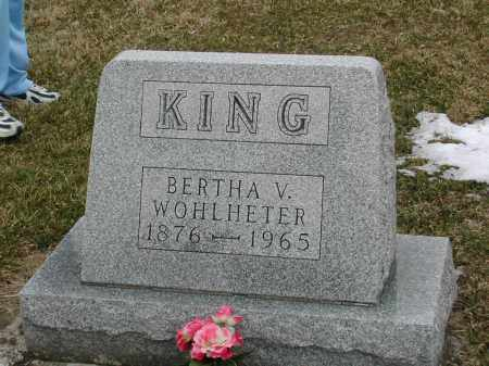 VENSIL KING, BERTHA VIRGINIA - Muskingum County, Ohio | BERTHA VIRGINIA VENSIL KING - Ohio Gravestone Photos