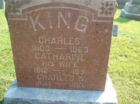 KING, CATHARINE, HIS WIFE - Muskingum County, Ohio | CATHARINE, HIS WIFE KING - Ohio Gravestone Photos
