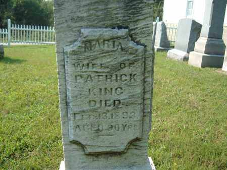 KING, MARIA-WIFE OF- PATRICK - Muskingum County, Ohio | MARIA-WIFE OF- PATRICK KING - Ohio Gravestone Photos