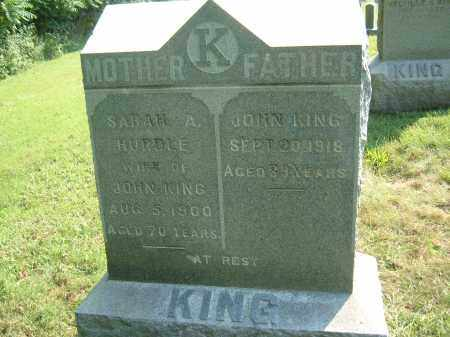 KING, SARAH A - Muskingum County, Ohio | SARAH A KING - Ohio Gravestone Photos