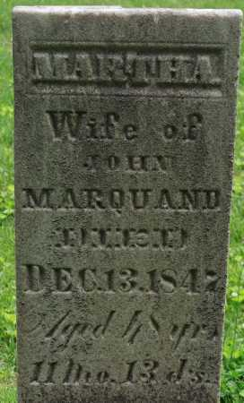 MARQUAND, MARTHA - Muskingum County, Ohio | MARTHA MARQUAND - Ohio Gravestone Photos
