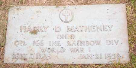 MATHENY, HARRY D. - Muskingum County, Ohio | HARRY D. MATHENY - Ohio Gravestone Photos