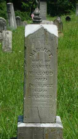 MCCLOUD, MARGRET - Muskingum County, Ohio | MARGRET MCCLOUD - Ohio Gravestone Photos