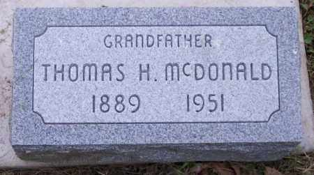 MCDONALD, THOMAS H. - Muskingum County, Ohio | THOMAS H. MCDONALD - Ohio Gravestone Photos