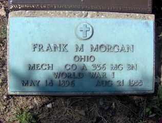 MORGAN, FRANK M - Muskingum County, Ohio | FRANK M MORGAN - Ohio Gravestone Photos