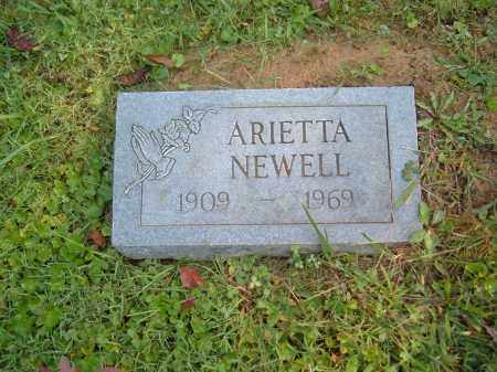 ? NEWELL, ARIETTA - Muskingum County, Ohio | ARIETTA ? NEWELL - Ohio Gravestone Photos