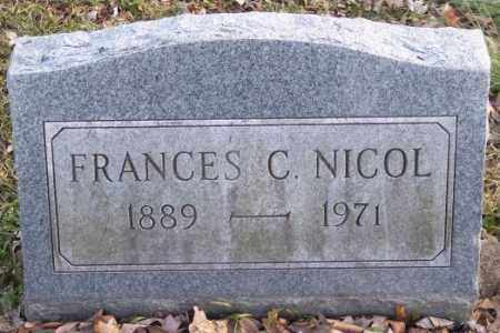 NICOL, FRANCES C. - Muskingum County, Ohio | FRANCES C. NICOL - Ohio Gravestone Photos