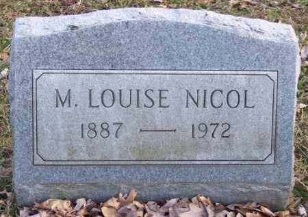 NICOL, M. LOUISE - Muskingum County, Ohio | M. LOUISE NICOL - Ohio Gravestone Photos