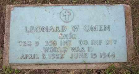 OMEN, LEONARD W. - Muskingum County, Ohio | LEONARD W. OMEN - Ohio Gravestone Photos