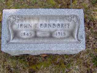 ORNDORFF, JOHN T - Muskingum County, Ohio | JOHN T ORNDORFF - Ohio Gravestone Photos
