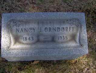 ORNDORFF, NANCY J - Muskingum County, Ohio | NANCY J ORNDORFF - Ohio Gravestone Photos