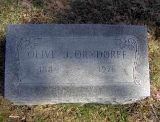 ORNDORFF, OLIVE J - Muskingum County, Ohio | OLIVE J ORNDORFF - Ohio Gravestone Photos