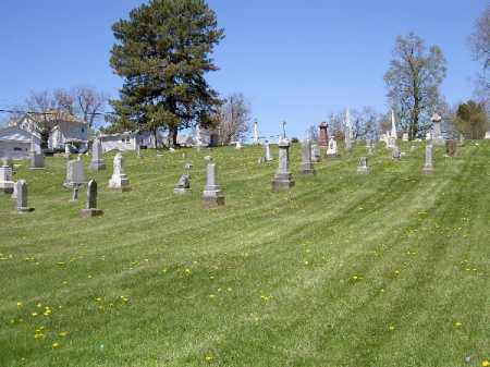 OVERVIEW, ST. THOMAS - Muskingum County, Ohio | ST. THOMAS OVERVIEW - Ohio Gravestone Photos