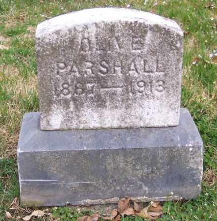 PARSHALL, OLIVE - Muskingum County, Ohio | OLIVE PARSHALL - Ohio Gravestone Photos