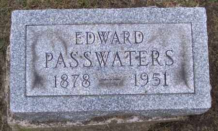 PASSWATERS, EDWARD - Muskingum County, Ohio | EDWARD PASSWATERS - Ohio Gravestone Photos