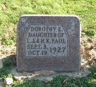 PAUL, DOROTHY E. - Muskingum County, Ohio | DOROTHY E. PAUL - Ohio Gravestone Photos