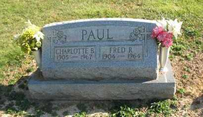 PAUL, CHARLOTTE B - Muskingum County, Ohio | CHARLOTTE B PAUL - Ohio Gravestone Photos