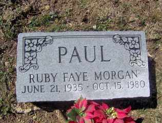 MORGAN PAUL, RUBY FAYE - Muskingum County, Ohio | RUBY FAYE MORGAN PAUL - Ohio Gravestone Photos