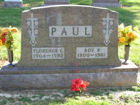 PAUL, FLORENCE G. - Muskingum County, Ohio | FLORENCE G. PAUL - Ohio Gravestone Photos
