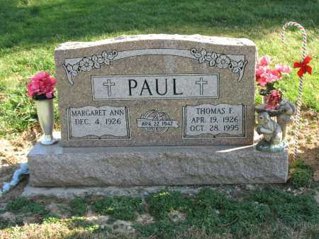 PAUL, THOMAS F - Muskingum County, Ohio | THOMAS F PAUL - Ohio Gravestone Photos