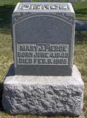 PIERCE, MARY J - Muskingum County, Ohio | MARY J PIERCE - Ohio Gravestone Photos