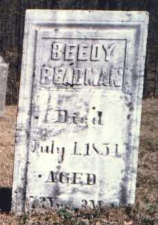 REDMAN, BEEDY - Muskingum County, Ohio | BEEDY REDMAN - Ohio Gravestone Photos