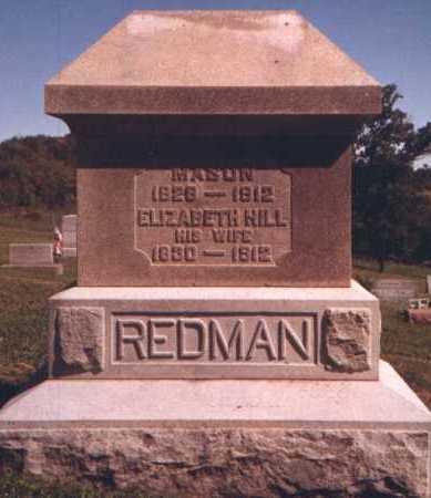 HILL REDMAN, ELIZABETH - Muskingum County, Ohio | ELIZABETH HILL REDMAN - Ohio Gravestone Photos