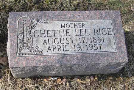 RICE, CHETTIE LEE - Muskingum County, Ohio | CHETTIE LEE RICE - Ohio Gravestone Photos