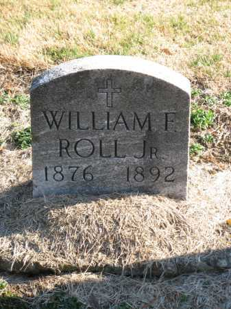 ROLL, WILLIAM F. - Muskingum County, Ohio | WILLIAM F. ROLL - Ohio Gravestone Photos
