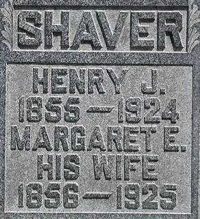 SHAVER, HENRY J. - Muskingum County, Ohio | HENRY J. SHAVER - Ohio Gravestone Photos