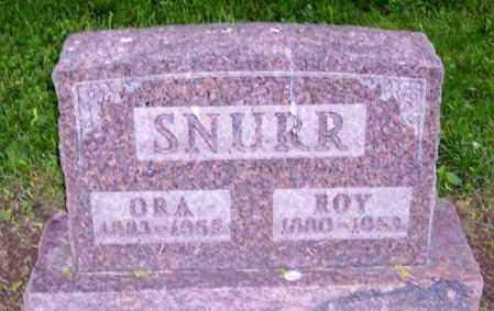 SNURR, ORA - Muskingum County, Ohio | ORA SNURR - Ohio Gravestone Photos