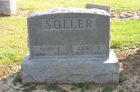 SOLLER, MARY J. - Muskingum County, Ohio | MARY J. SOLLER - Ohio Gravestone Photos