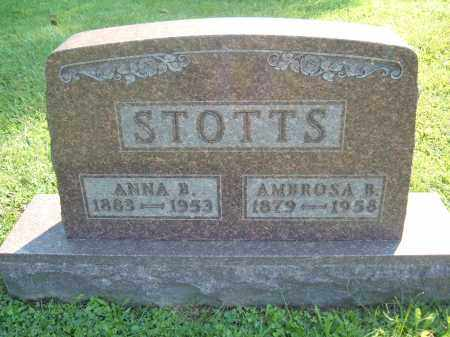 ? STOTTS, ANNA B - Muskingum County, Ohio | ANNA B ? STOTTS - Ohio Gravestone Photos